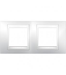 Рамка 2-я Unica Хамелеон Белый для горизонтального монтажа