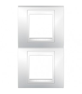 Рамка 2-я Unica Хамелеон Белый для вертикального монтажа