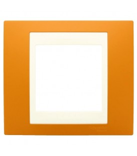 Рамка 1-я Unica Хамелеон Оранжевый/Бежевый