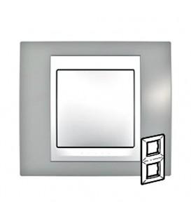 Рамка 2-я Unica Хамелеон Серый/Белый для вертикального монтажа