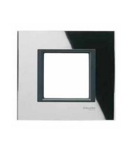Рамка 1-я Unica Class Черное стекло