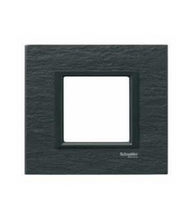 Рамка 1-я Unica Class Черный камень иберийский сланец