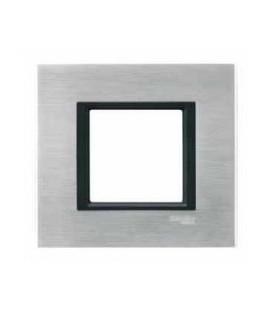 Рамка 1-я Unica Class Серебристый алюминий