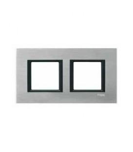 Рамка 2-я Unica Class Серебристый алюминий