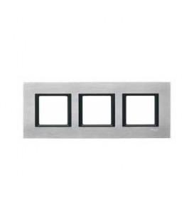 Рамка 3-я Unica Class Серебристый алюминий