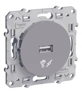 USB розетка алюминий ODACE c монтажными лапками