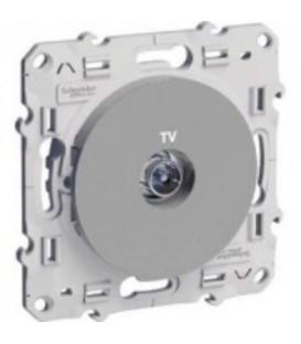 Розетка TV алюминий ODACE c монтажными лапками
