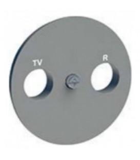 Розетка R-TV\SAT проходная алюминий ODACE c монтажными лапками