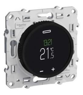 Термостат с сенсорным дисплеем (черный) c монтажными лапками