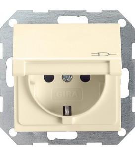Розетка с откидной крышкой 16 А / 250 В~ Gira 45401 System 55 Кремовый