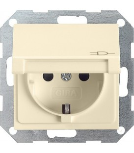 Розетка с откидной крышкой с защитой от детей 16 А / 250 В~ Gira 41401 System 55 Кремовый