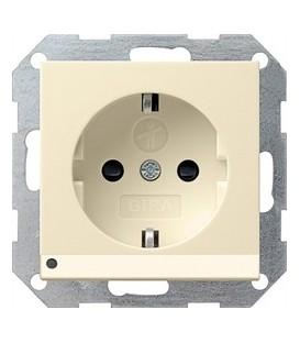 Розетка со светодиодной подсветкой с защитой от детей 16 А / 250 В~ Gira 117001 System 55 Кремовый