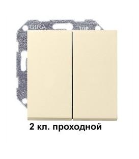 2 клавишный выключатель проходной
