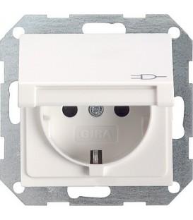 Розетка с откидной крышкой 16 А / 250 В~ Gira 45403 System 55 Белый глянцевый