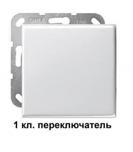 1 клавишный переключатль Gira 10600/29603 комплект Глянцевый белый