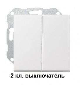 2 клавишный выключатель Gira 10500/29503 комплект Глянцевый белый