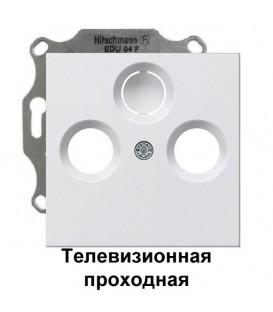 Телевизионная TV+FM проходная розетка Gira S2900-10/86903 комплект Глянцевый белый