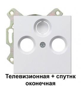 Телевизионная+спутник TV+FM+SAT оконечная розетка Gira S4100/86903 комплект Глянцевый белый