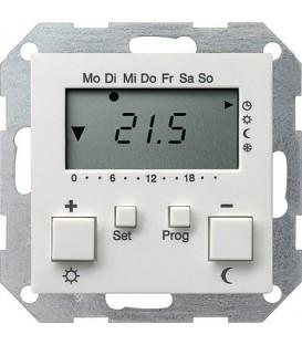 Термостат с таймером и функцией охлаждения Gira 237003 Глянцевый белый