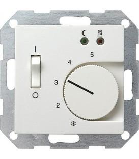 Термостат 230 В~ с выносным датчиком для электрического подогрева пола Gira 39403 Глянцевый белый