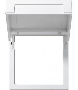 Монтажная рамка с откидной крышкой Gira 265803 Глянцевый белый