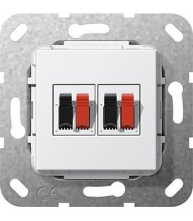 Вставка: подключение динамиков 2-местн Gira 569303 Глянцевый белый