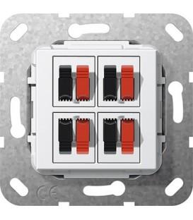 Вставка: подключение динамиков 4-местн Gira 569403 Глянцевый белый