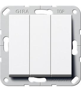 Выключатель 3 клавишный Gira G283003 System 55 Белый глянцевый