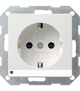 Розетка со светодиодной подсветкой с защитой от детей 16 А / 250 В~ Gira 117027 System 55 Белый матовый