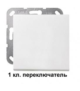 1 клавишный переключатль Gira 10600/29627 комплект Матовый белый