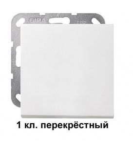 1 клавишный перекрёстный переключатель Gira 10700/29627 комплект Матовый белый