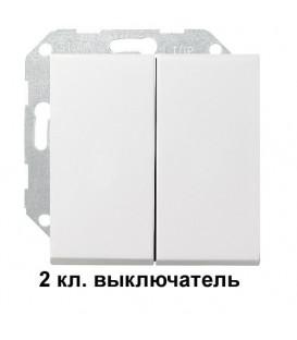 2 клавишный выключатель Gira 10500/29527 комплект Матовый белый
