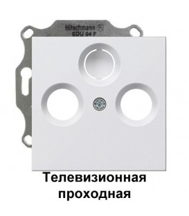Телевизионная TV+FM проходная розетка Gira S2900-10/86927 комплект Матовый белый