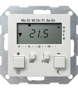 Термостат с таймером и функцией охлаждения Gira 237027 Матовый белый