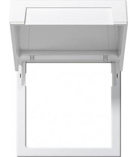 Монтажная рамка с откидной крышкой Gira 265827 Матовый белый