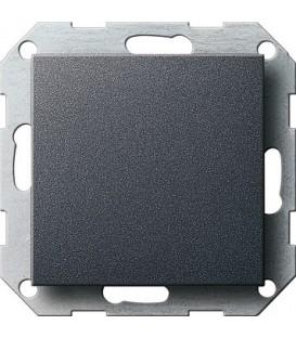 Заглушка с опорной пластиной Gira 26828 System 55 Антрацит