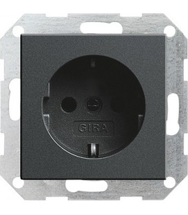 Розетка 16 А / 250 В~ Gira 18828 System 55 Антрацит