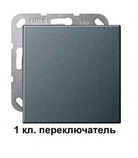 """1 клавишный переключатль Gira 10600/29628 комплект """"Антрацит"""""""