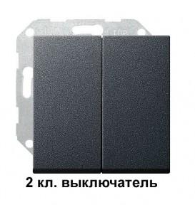 2 клавишный выключатель Gira 10500/29528 комплект Антрацит