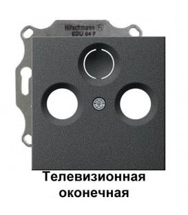 """Телевизионная TV+FM оконечная розетка Gira S2900/86928 комплект """"Антрацит"""""""