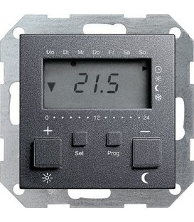 Термостат с таймером и функцией охлаждения Gira 237028 Антрацит