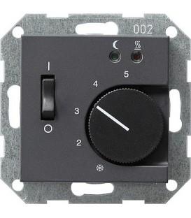 Термостат 230 В~ с выносным датчиком для электрического подогрева пола Gira 39428 Антрацит