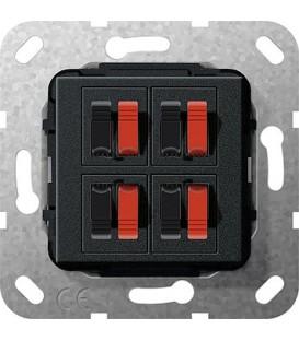 Вставка: подключение динамиков 4-местн Gira 569410 Матовый черный