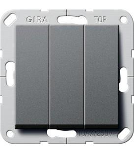 Выключатель 3 клавишный Gira G283028 System 55 Антрацит