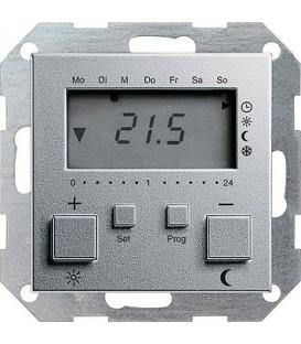 Термостат с таймером и функцией охлаждения Gira 237026 Алюминий