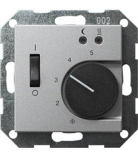 Термостат 230 В~ с выносным датчиком для электрического подогрева пола Gira 39426 Алюминий