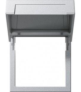 Монтажная рамка с откидной крышкой Gira 265826 Алюминий