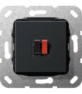 Вставка: подключение динамиков 1-местн Gira 569210 Матовый черный