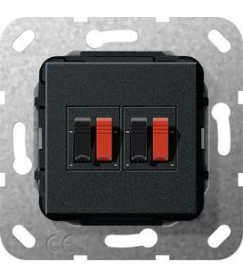 Вставка: подключение динамиков 2-местн Gira 569310 Матовый черный