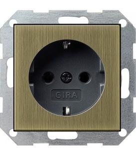 Розетка 16 А / 250 В~ Gira 188603 System 55 Бронза/Чёрный